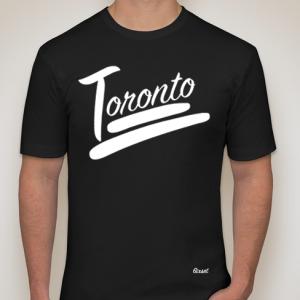 100% Toronto Crewneck - White on Black