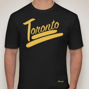 100% Toronto Collection - Black and Gold - Crewneck