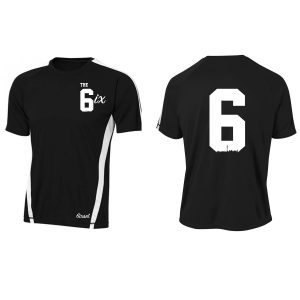 The 6ix Pro Jersey by 6ixset (Simple+) - White on Black - Front + Back
