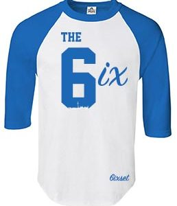 The 6ix Raglan by 6ixset - Royal Blue on White