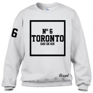 Scent of 6ix - Black on White Crewneck Sweater