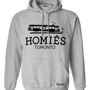 homies toronto - black on GREY HOODIE