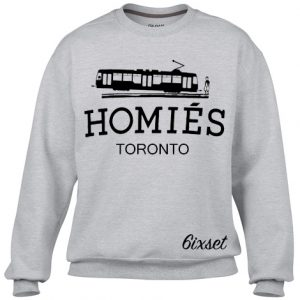 homies toronto - black on GREY sweater