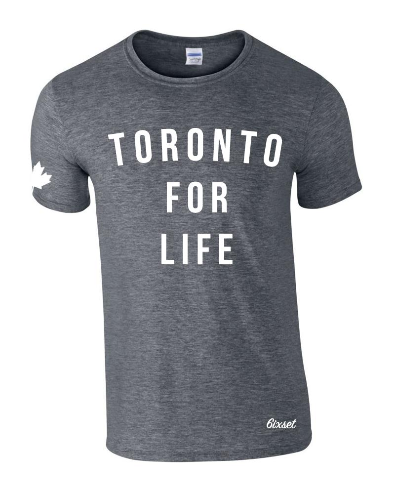toronto-for-life-white-on-dark-heather-crewneck-t-shirt