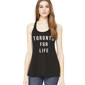 toronto-for-life-by-6ixset-white-on-black-ladies-flowy-racerback-tanktop