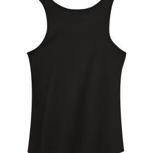 ladies black regular tanktop - back