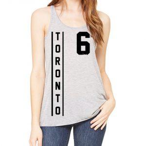 toronto thunder style - black on grey flowy ladies racerback tanktop