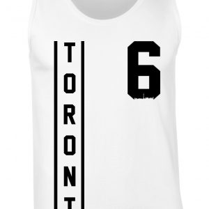 toronto thunder style - black on white tanktop