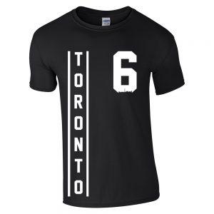 toronto thunder style - white on black t-shirt
