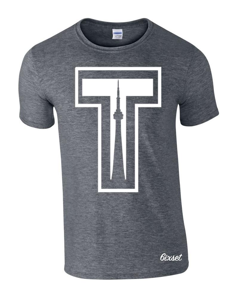 tower-by-6ixset-white-on-dark-heather-crewneck-t-shirt