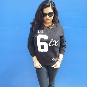 The 6ix by 6ixset Black and White Crewneck Sweater