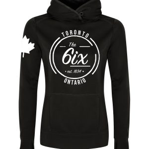the-6ix-ontario-est-1834-white-on-black-ladies-pullover-hoodie