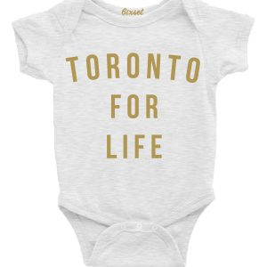 toronto-for-life-gold-on-white-baby-onesie