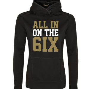 all-in-on-the-6ix-by-6ixset-gold-and-white-on-black-ladies-pullover-hoodie