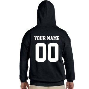 Custom NAME AND NUMBER Pullover Hooded Sweater/Sweatshirt (Hoodie)