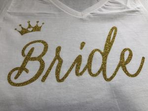 bridal - bride gold glitter