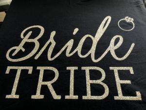 bridal - bride tribe silver glitter