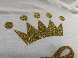bridal - crown gold glitter