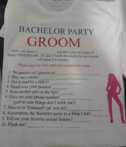 custom - bachelor party groom t-shirt