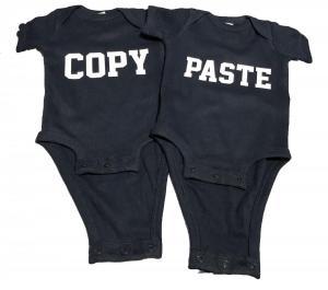 custom - copy paste twin white on navy baby one piece 2