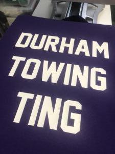custom - durham towing ting purple