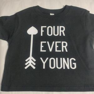 custom - fourever young white on black toddler t-shirt