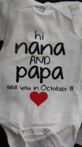 custom - hi nana and papa baby onesie