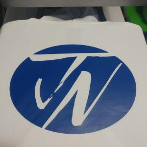 custom - jn logo royal blue on white hoodie
