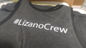 custom - lizano crew white on dark heather tanktop