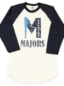 custom - mazenga majors raglan baseball jersey