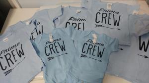 custom - primo crew black on powder blue baby one piece