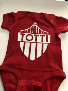 custom - totti baby one piece